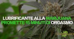 Lubrificante alla marijuana promette orgasmi di 15 minuti.